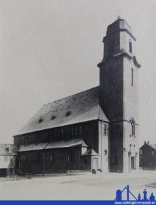Die alte Sankt Antonius-Kirche in Fenne stand an der Saarbrücker Straße (Archiv)