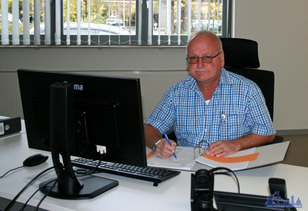Stephan Baierschmitt am Arbeitsplatz (Foto: Stadtwerke Völklingen)