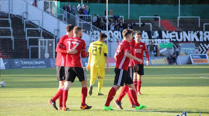Torjubel nach dem 1:0 (Foto: Hell)