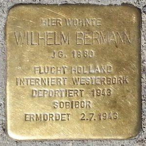 Stolperstein zum Gedenken an Wilhelm Bermann. © Andreas Hell