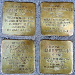 Stolperstein zum Gedenken an die Samuel Bermann und seine Familie. © Andreas Hell