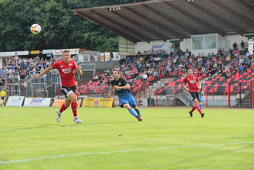 Der SV Röchling Völklingen konnte beim 1:4 gegen den 1. FCS gut mithalten (Foto: Hell)
