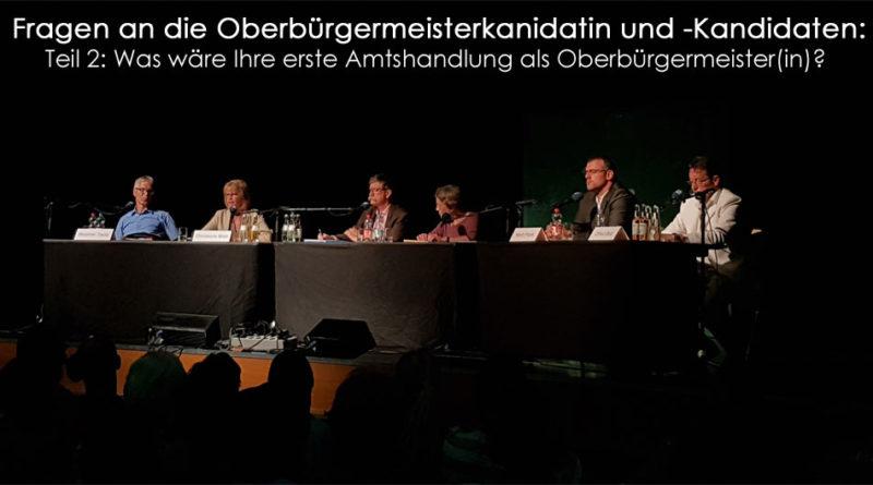 Oberbürgermeisterfragen Teil 2 (Foto: Hell)