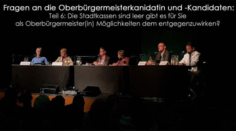 Oberbürgermeisterfragen Teil 6 (Foto: Hell)