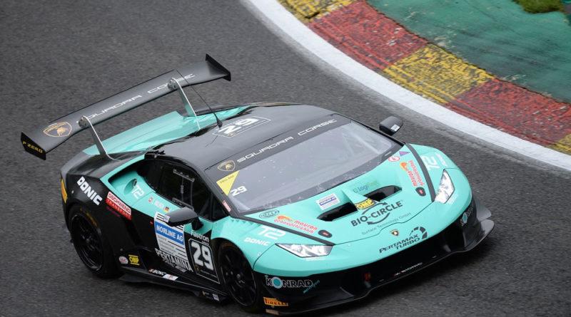 Im 620 PS starken Lamborghini Huracan Super Trofeo fuhr Carrie Schreiner in Spa