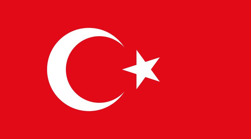 Staatsflagge der Türkei (gemeinfreie Grafik)