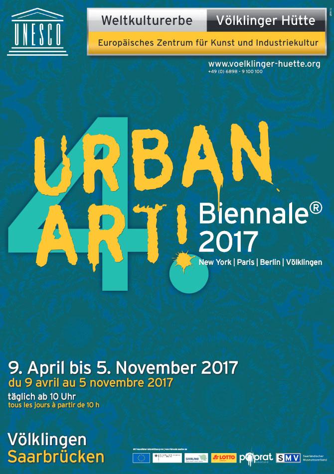 """Am Sonntag, dem 9. April 2017, startet die vierte """"UrbanArt Biennale® 2017"""", die die neuesten Entwicklungen und die entscheidenden Positionen der weltweiten Urban Art in Völklingen präsentiert."""