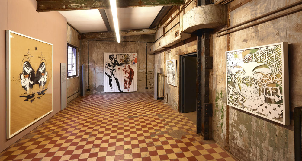 "Die ""4. UrbanArt Biennale® 2017"" im Weltkulturerbe Völklinger Hütte Kunstwerke: Banksy: Toxic Mary (double), 2003 