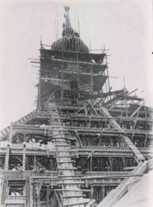 Stand der Bauarbeiten an der Versöhnungskirche 1927