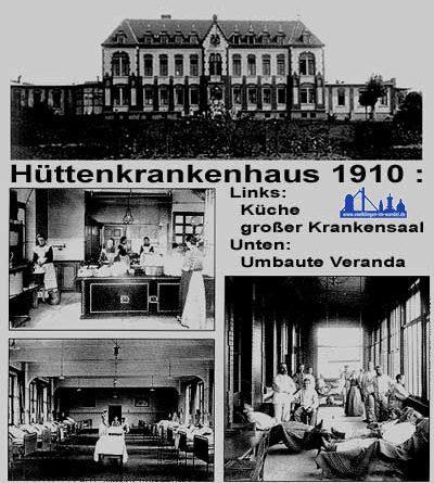 Ansichten des Hüttenkrankenhauses (Sammlung Heimatkundlicher Verein Warndt)