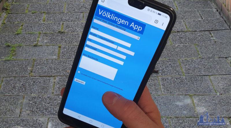 Schlicht und einfach, aber funktional: So könnte eine Völklingen-App aussehen. (Fotomontage: AH/JUvkl)