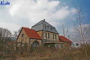 Der Bahnhof Geislautern 2013 (Ansicht von der ehemaligen Warndtstrecke aus) - Foto: Hell