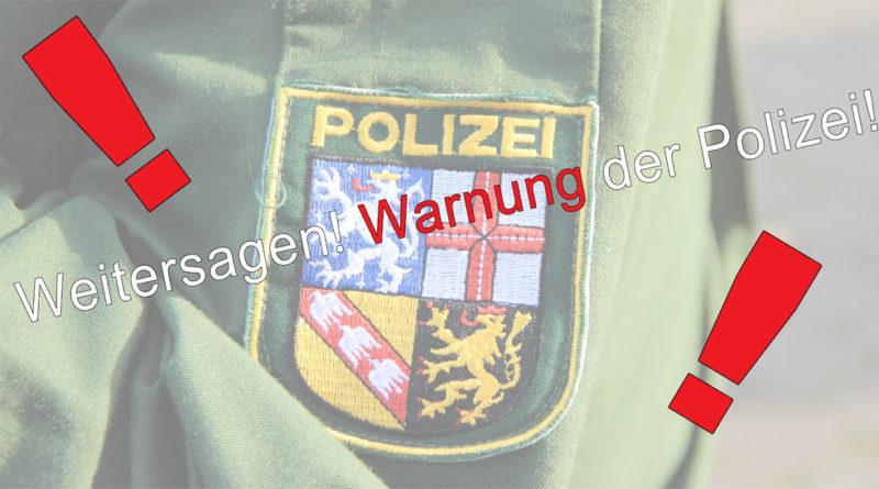 Warnung der Polizei