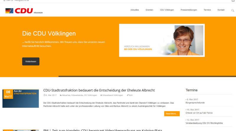 Webseite der CDU Völklingen